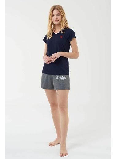 U.S. Polo Assn. Kadın T-Shirt Şort Takım Lacivert